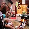 Christening, Christ Church, Linton