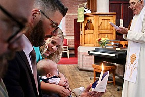 Christening, Christ Church, Linton