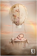 Baby Girl in hot air balloon