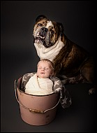 Baby Girl and her Dog