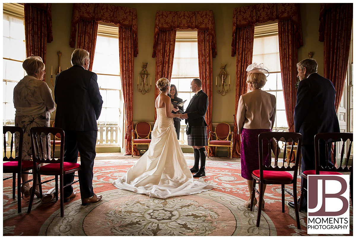 Round Room Wedding Ceremony at Culzean Castle