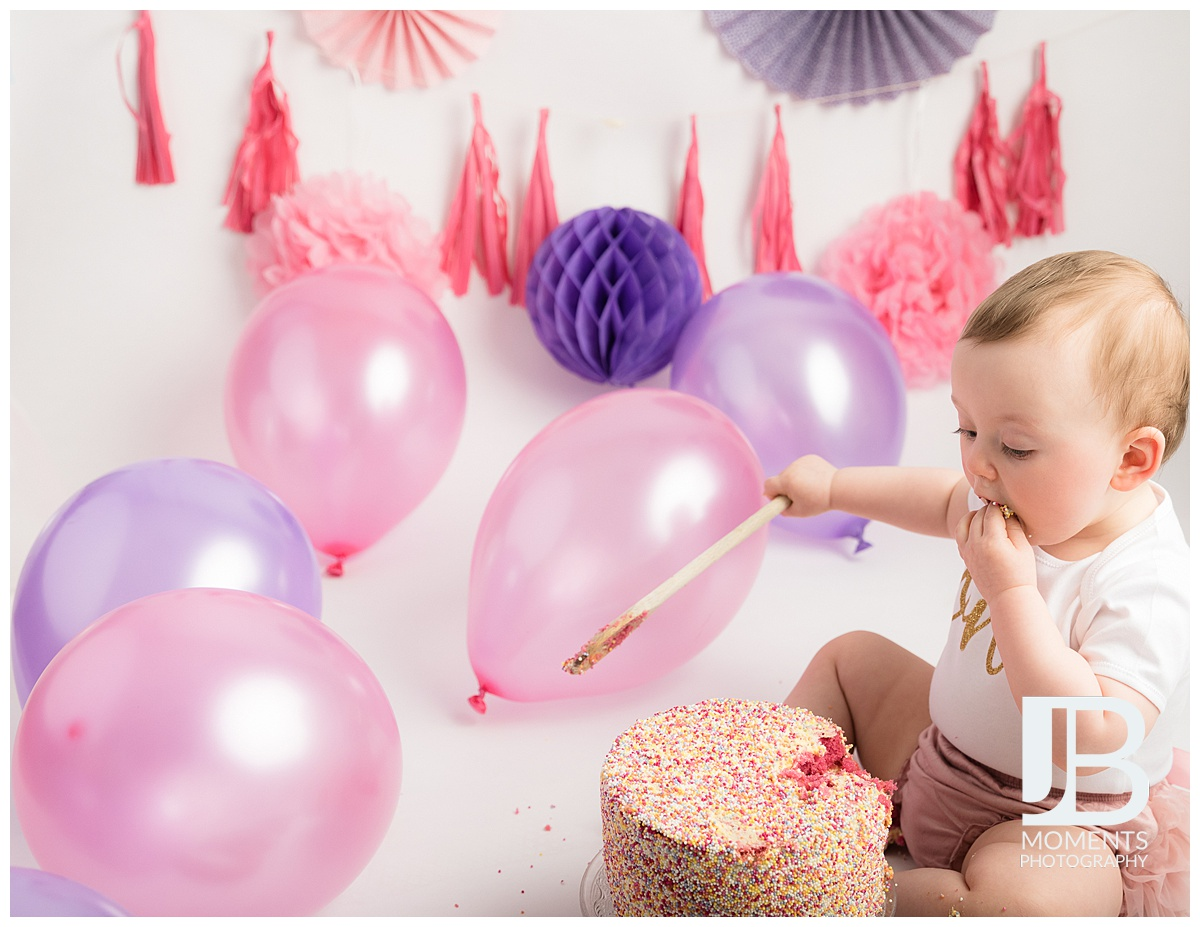 1st birthday milestone photographs at JB Moments Photography