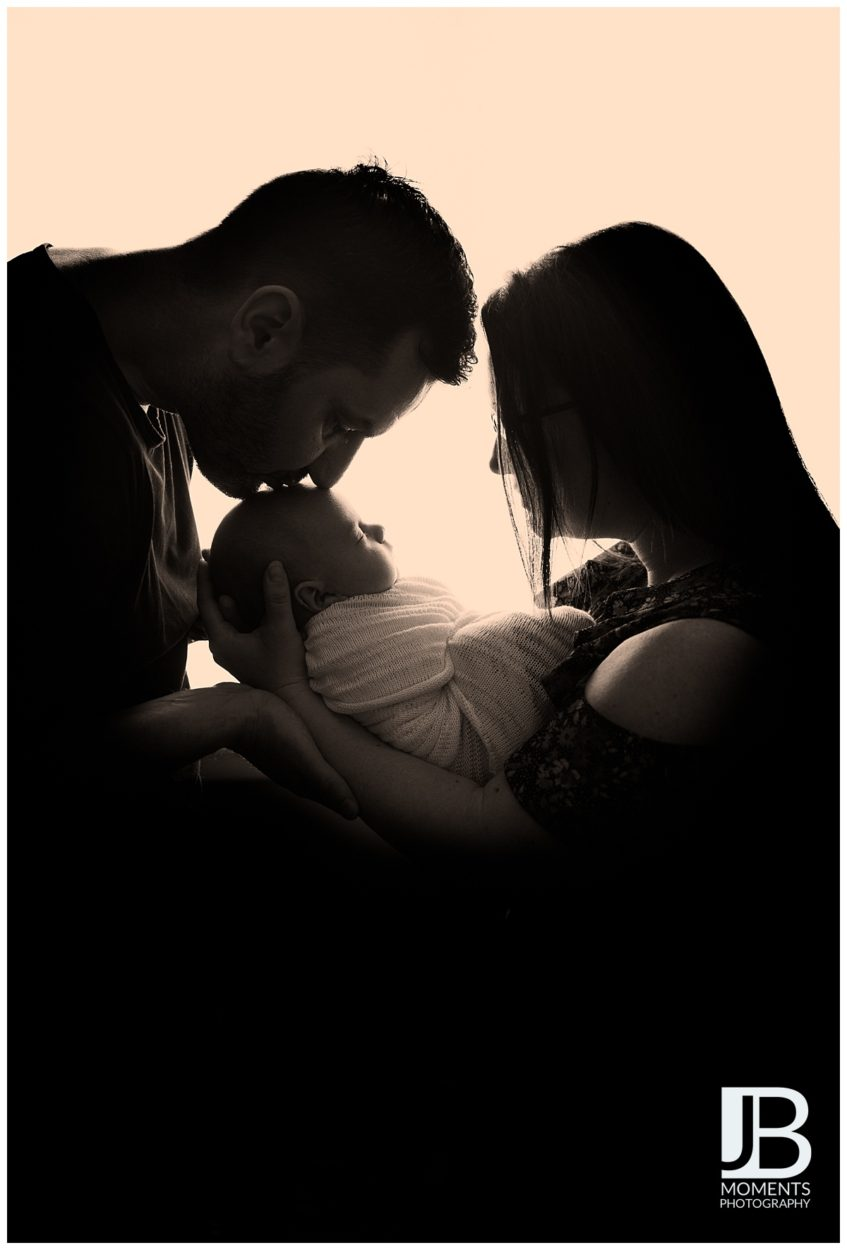 Baby with mum and dad - JB Moments Photography