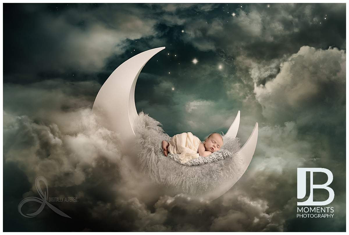 Baby on the moon - JB Moments Photography