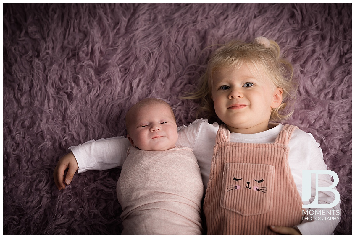 Baby girl and sister - JB Moments Photography