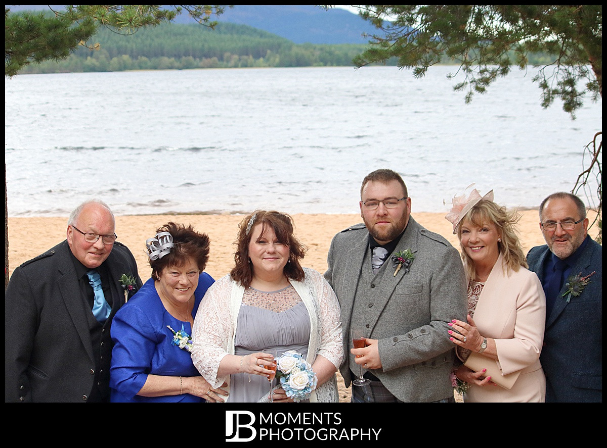 JB Moments Photography at Loch Morlich Wedding